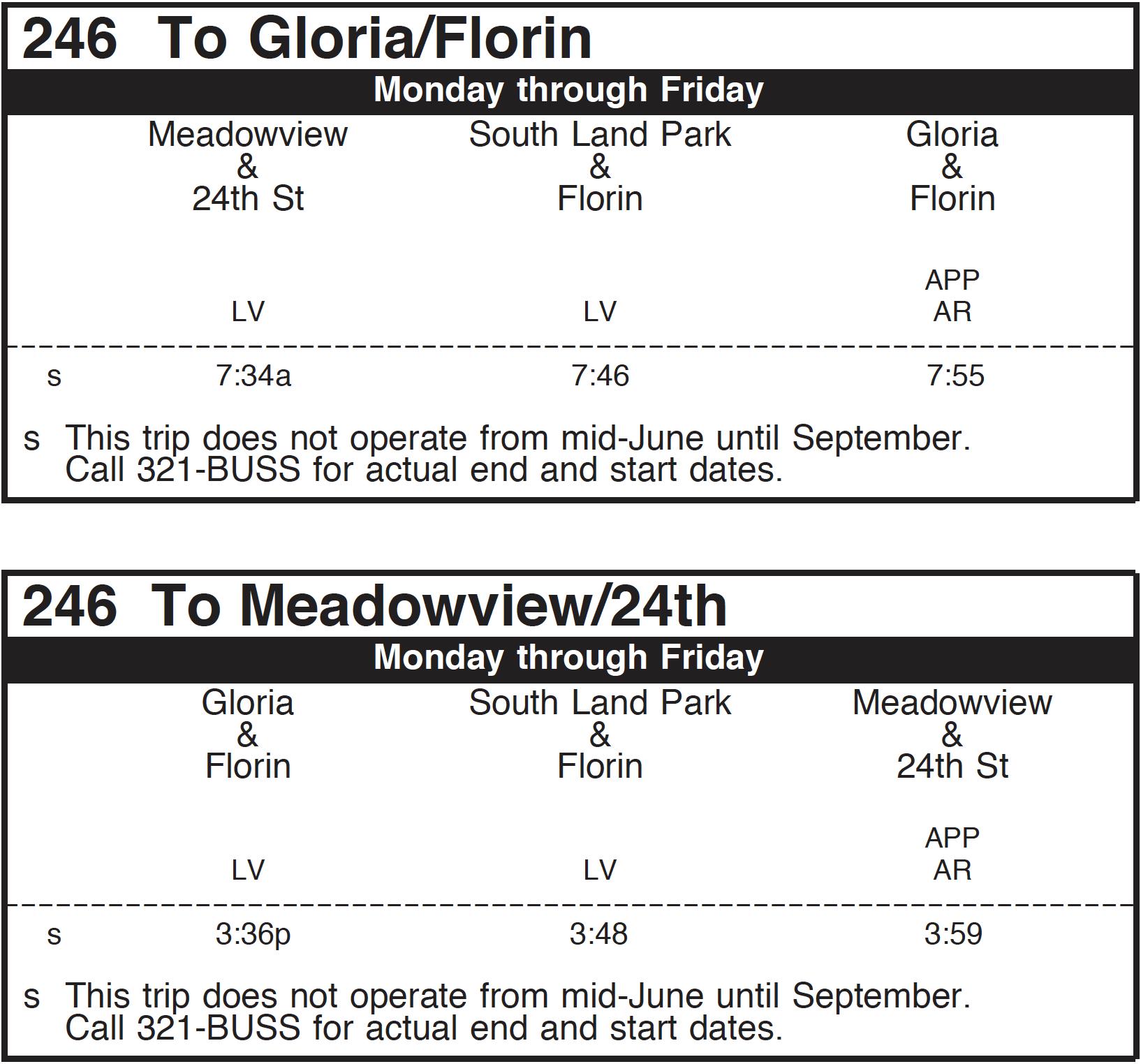 September Service Changes Effective Sunday September 2