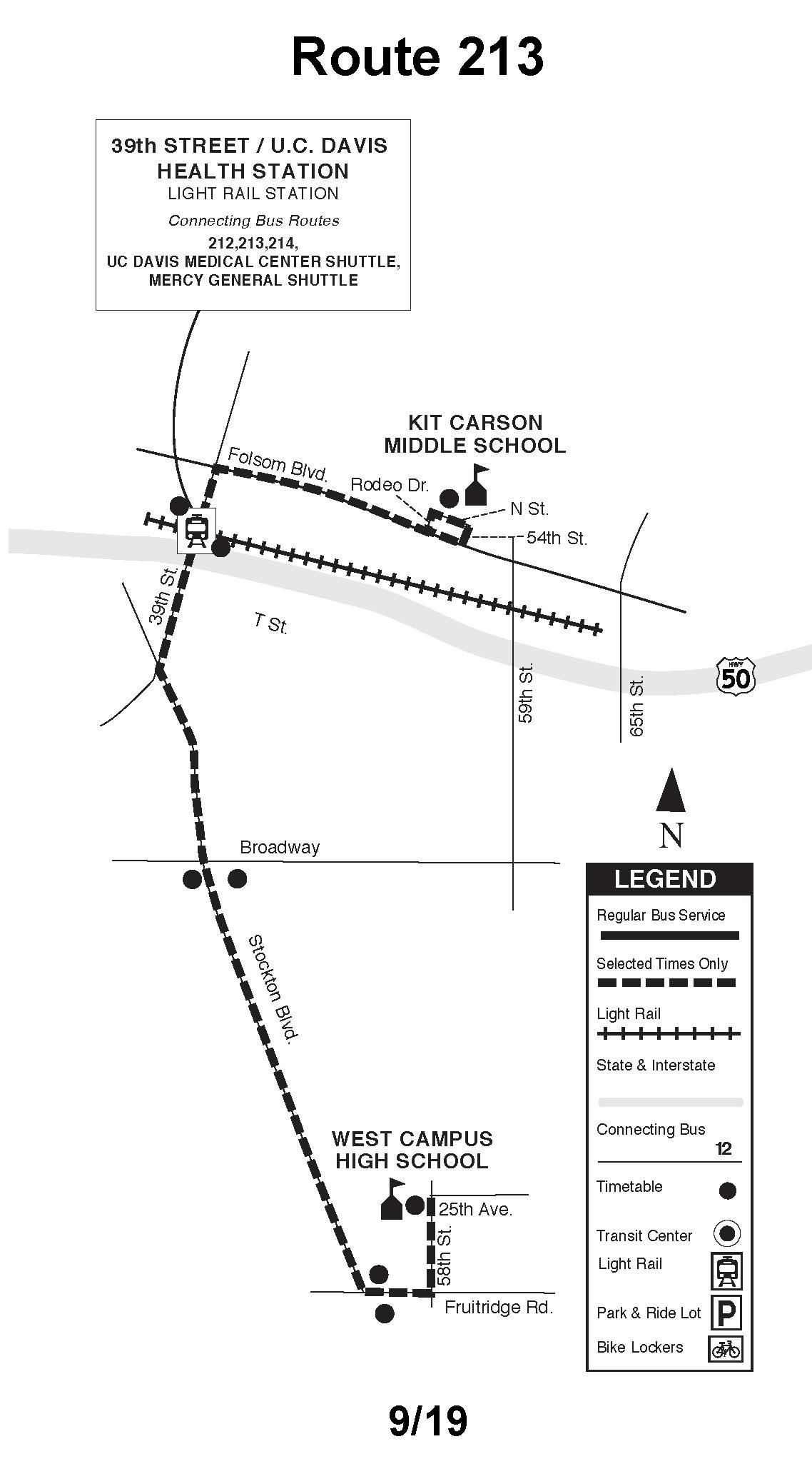 Sacramento Rt Route 213 Transit Wiki